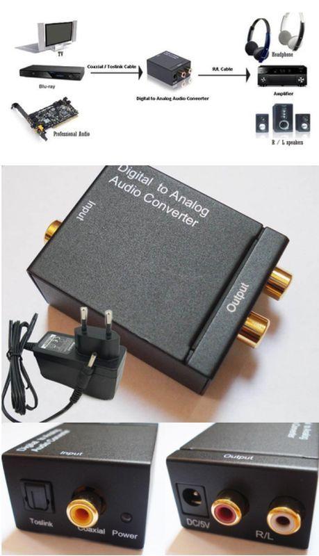 OPTIKAI SZTEREÓ RCA ÁTALAKÍTÓ (digitál - analóg konverter 92570) RENDELÉSRE !!!!!!