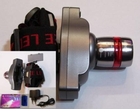 Fejlámpa 3W-os POWER LED-el - Zoom funkcióval 180 lumen